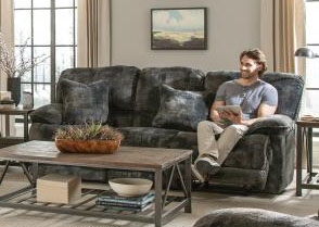 Bolt Reclining Sofa in Pewter Fabric by Catnapper - 2281