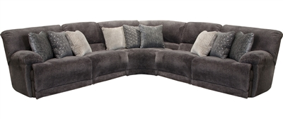 Burbank 5 Piece Reclining Sectional in Smoke Fabric by Catnapper - 281-S-05