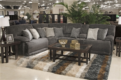 Burbank 5 Piece Reclining Sectional in Smoke Fabric by Catnapper - 281-S-5S