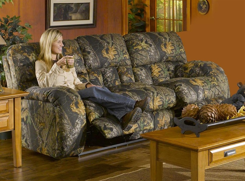 Lodge Manual Reclining Sofa In Camouflage Cover By Catner 3781