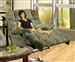 Jackpot Reclining Chaise in Sage, Chocolate, or Camel Microfiber Fabric by Catnapper - 3989