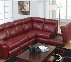 Chastain 2 Piece Red Leather Storage Reclining Sectional By Catner 4016 R