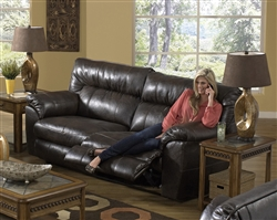 Nolan Leather Reclining Sofa Leather by Catnapper - 4041