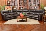 Nolan 3 Piece Leather Reclining Sectional by Catnapper - 4041-SEC