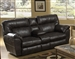 Nolan Godiva Leather Reclining Console Loveseat by Catnapper - 4049
