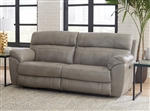 Costa Lay Flat Reclining Sofa in Putty Color Leather by Catnapper - 4071-P