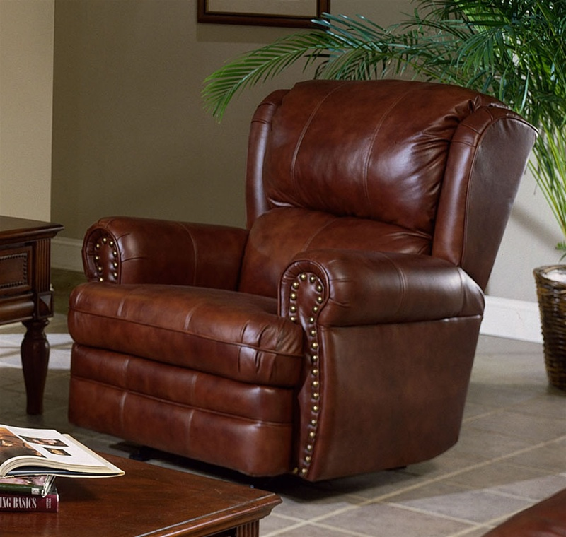 Buckingham Chestnut Leather Dual Reclining Sofa By