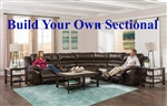 Bergamo BUILD YOUR OWN Reclining Sectional in Chocolate Leather by Catnapper - 418-BYO