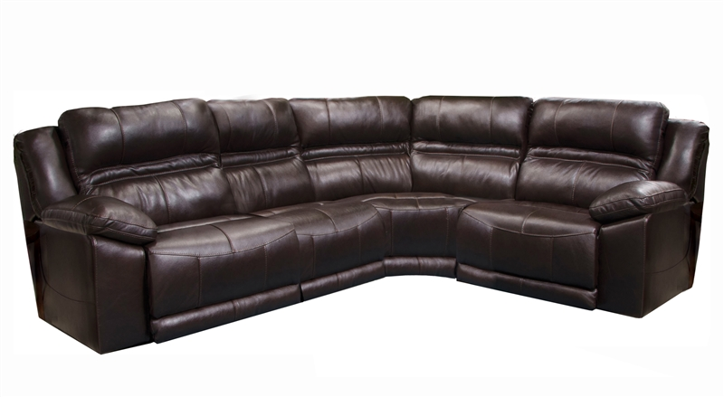 Bergamo Build Your Own Reclining Sectional In Chocolate