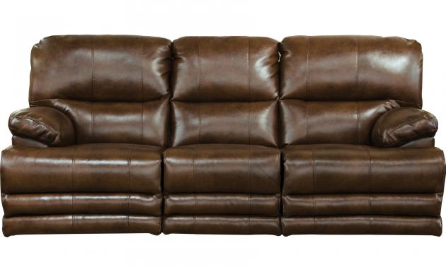 Austin Storage Reclining Sofa in Chocolate Leather Like Fabric by ...
