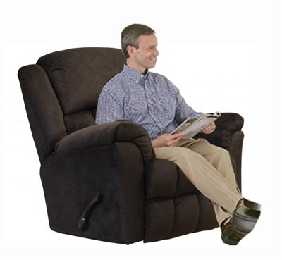 Bingham Rocker Recliner with Deluxe Heat and Massage in Chocolate Fabric by Catnapper - 42112-CH