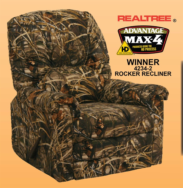 Winner MAX 4   Realtree Camouflage Rocker Recliner By Catnapper   4234 2  CAMO