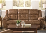 Joyner Lay Flat Reclining Sofa with Drop Down Table in Almond Fabric by Catnapper - 4255
