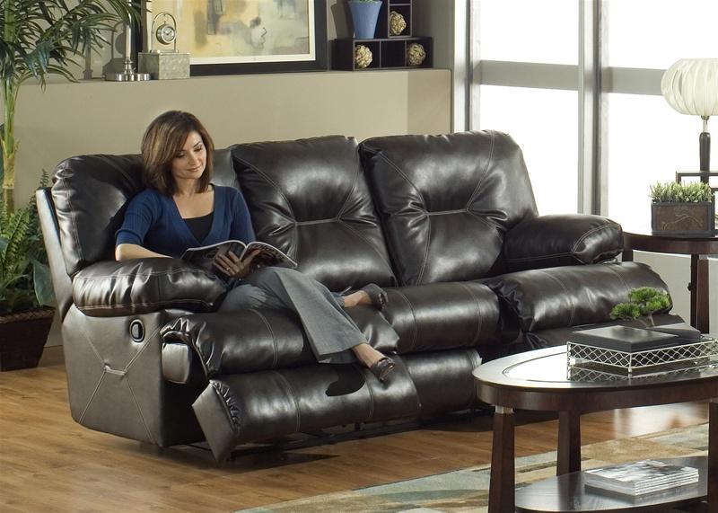 Cortez Dual Reclining Sofa In Dark