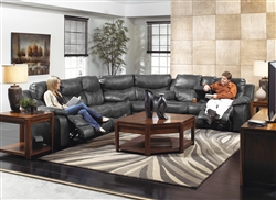 Catalina 3 Piece Leather Reclining Sectional by Catnapper - 431-3