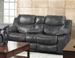 Catalina Leather Reclining Console Loveseat by Catnapper - 4319