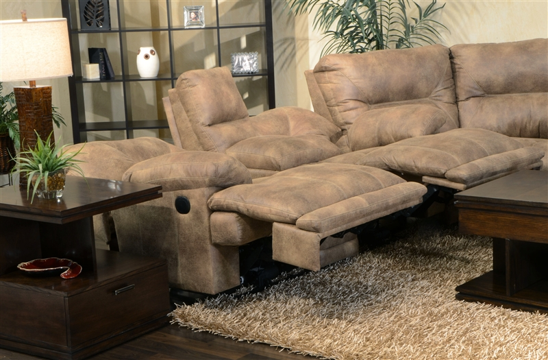 Voyager POWER Lay Flat 3 Piece Sectional in Brandy Fabric by Catnapper - 438-PSEC : catnapper sectionals - Sectionals, Sofas & Couches