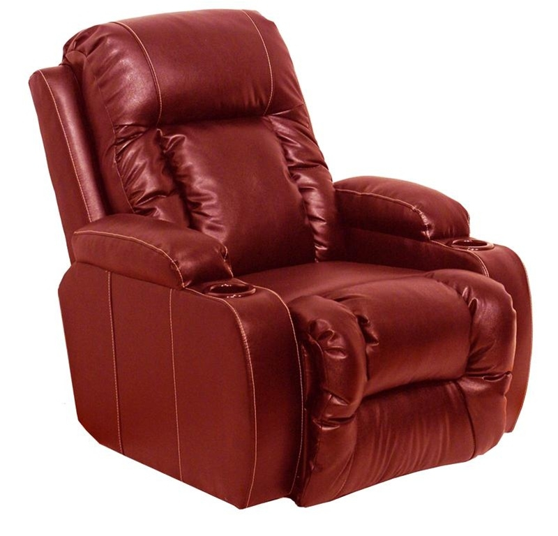 Geneva Theater Seating   1 Red Leather Chair Manual Or Power By Catnapper    4427rd