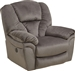 Drew Chaise Rocker Recliner in Granite Fabric by Catnapper - 4613-2-G
