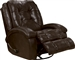Howell Swivel Glider Recliner in Saddle Leather Like Fabric by Catnapper - 4746-5-S