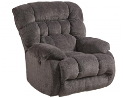 Daly Chaise Swivel Glider Recliner in Cobblestone Fabric by Catnapper - 4765-5-CB