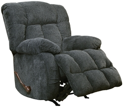 Brody Chaise Rocker Recliner in Slate Fabric by Catnapper - 4774-2-S