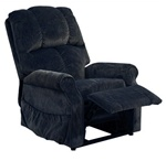 "Somerset ""Pow'r Lift"" Lounger Recliner in Black Pearl Fabric by Catnapper - 4817-BP"