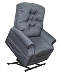 Patriot Power Lift Full Lay-Out Recliner in Slate Fabric by Catnapper - 4824-S