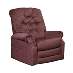 "Patriot ""Pow'r Lift"" Full Lay-Out Recliner in Vino Chenille by Catnapper - 4824-V"
