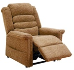 "Soother ""Pow'r Lift"" Full Lay-Out Chaise Recliner in Autumn Chenille by Catnapper - 4825-A"
