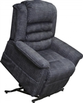 Soother Power Lift Full Lay-Out Chaise Recliner with Heat and Massage in Smoke Fabric by Catnapper - 4825-G