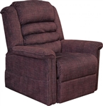 "Soother ""Pow'r Lift"" Full Lay-Out Chaise Recliner in Vino Chenille by Catnapper - 4825-V"