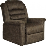 Soother Power Lift Full Lay-Out Chaise Recliner with Heat and Massage in Chocolate Fabric by Catnapper - 4825-W