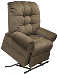 Omni Power Lift Full Lay-Out Chaise Recliner in Truffle Chenille by Catnapper - 4827-T