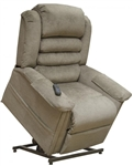 "Invincible ""Pow'r Lift"" Full Lay-Out Chaise Recliner in Cabernet Bleach Cleanable Vinyl by Catnapper - 4832-CB"