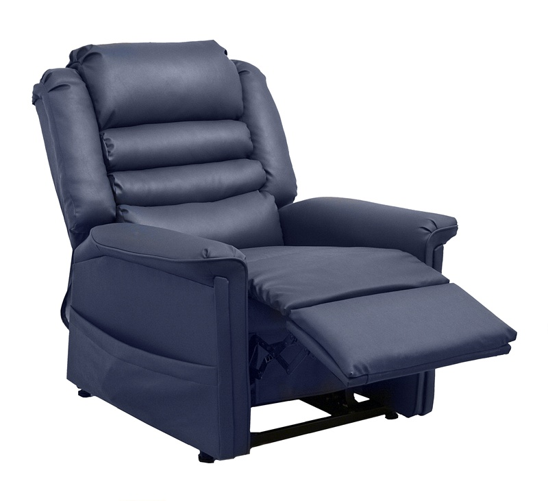 Swell Invincible Powr Lift Full Lay Out Chaise Recliner In Deep Sapphire Bleach Cleanable Vinyl By Catnapper 4832 S Bralicious Painted Fabric Chair Ideas Braliciousco