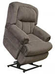 Burns Power Lift Full Lay Flat Recliner with Dual Motor in Ash Fabric by Catnapper - 4847-E