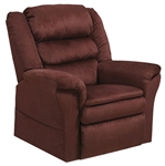 "Preston ""Pow'r Lift"" Pillow Top Recliner in Berry Fabric by Catnapper - 4850-B"