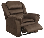 "Preston ""Pow'r Lift"" Pillow Top Recliner in Mocha Fabric by Catnapper - 4850-M"