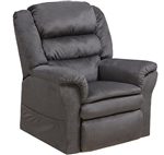 "Preston ""Pow'r Lift"" Pillow Top Recliner in Smoke Fabric by Catnapper - 4850-S"
