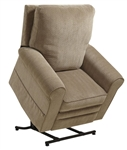 "Edwards ""Pow'r Lift"" Recliner in Mushroom Fabric by Catnapper - 4851-M"