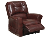 "Landon ""Pow'r Lift"" Lay Flat Recliner in Bourbon Leather by Catnapper - 4852-B"
