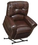 "Landon ""Pow'r Lift"" Flat Recliner Recliner in Java Leather by Catnapper - 4852-J"