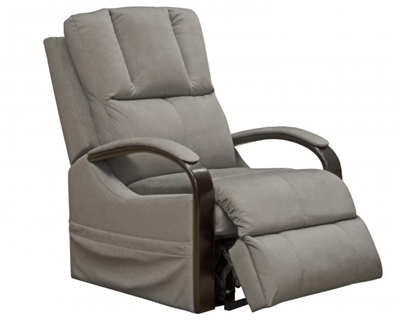 Chandler Power Lift Recliner with Heat and Massage in Platinum Fabric by Catnapper - 4863-P