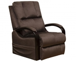 Chandler Power Lift Recliner with Heat and Massage in Walnut Fabric by Catnapper - 4863-W