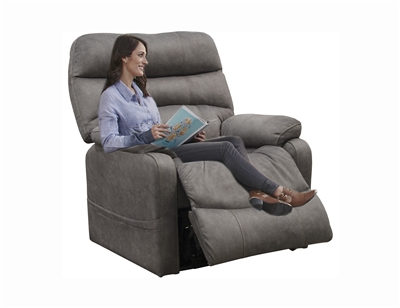 Buckley Power Lift Recliner in Graphite Fabric by Catnapper - 4864-G