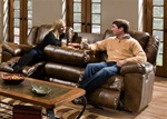 Transformer Toast Leather Reclining Sofa by Catnapper - 49445