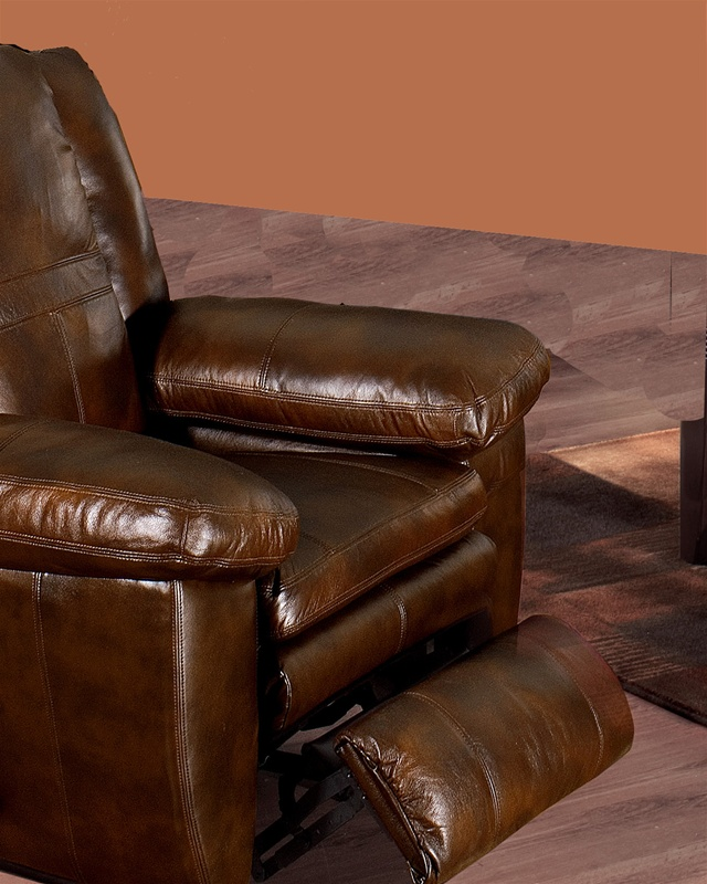 Sonoma Dual Reclining Sofa In Sable Color Leather By