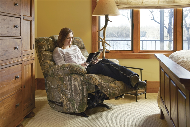 Duck Dynasty Flat Rock Chaise Rocker Recliner In Realtree MAX4 Camouflage  Fabric By Catnapper   5806 2