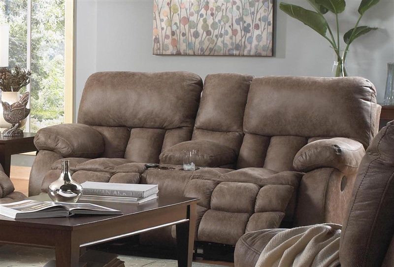 Madden Reclining Console Loveseat With Heat And Mage By Catner 610799